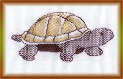 cross-stitch tortoise pattern